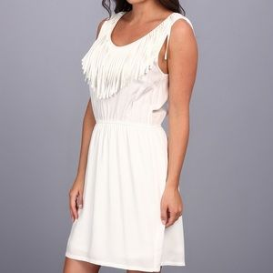Ariate White Fringe dress